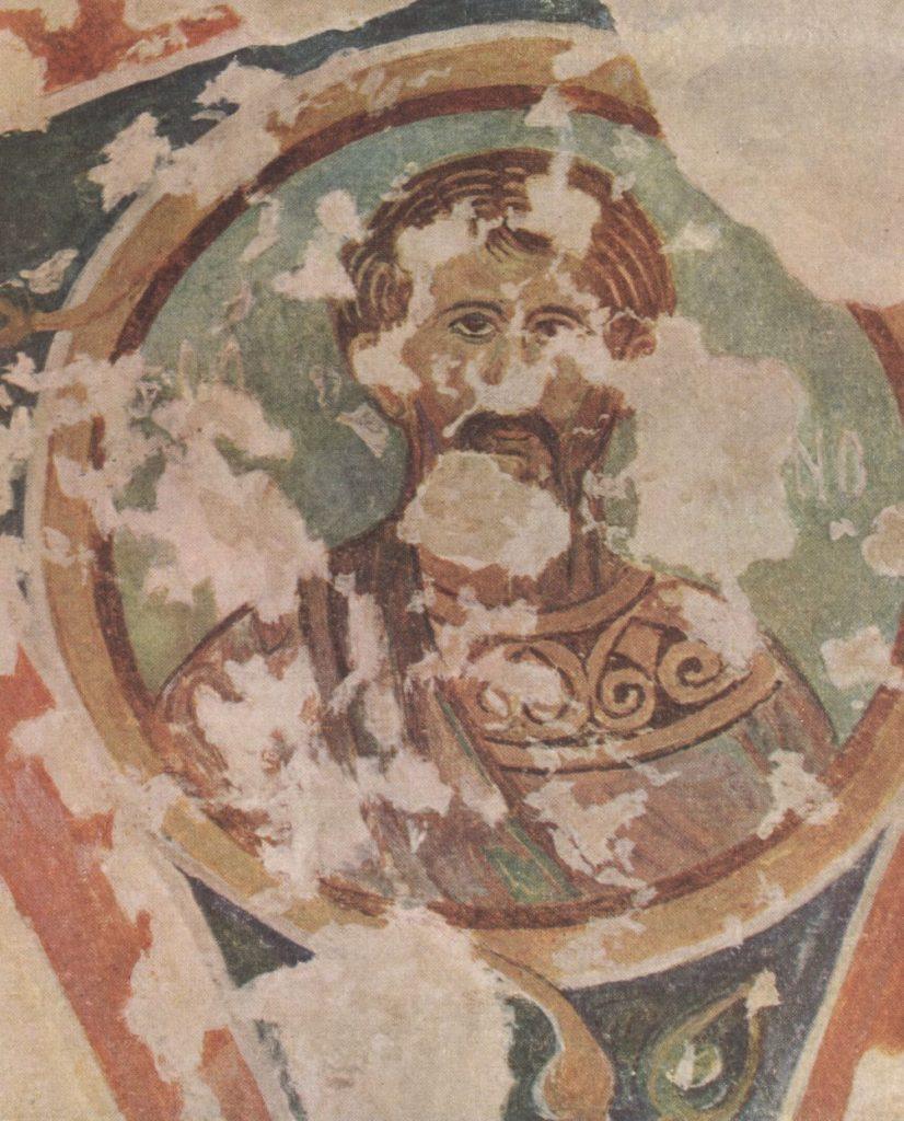 Черкес-Кермен. Храм «Донаторов». Неизвестный святой по О.И. Домбровскому.
