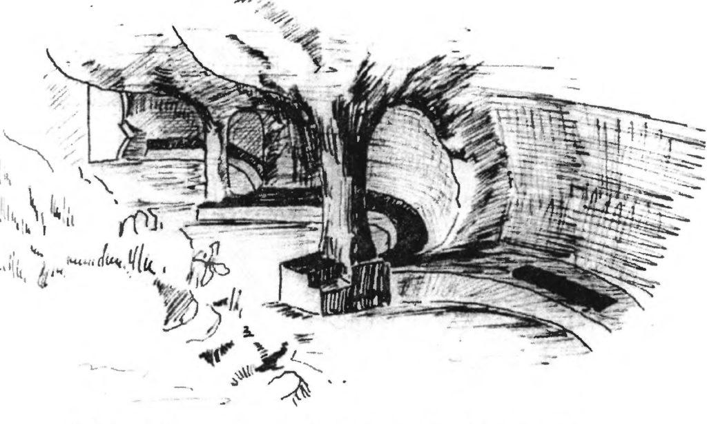 Эски-Кермен. Северо-восточная часть храма «Судилище».