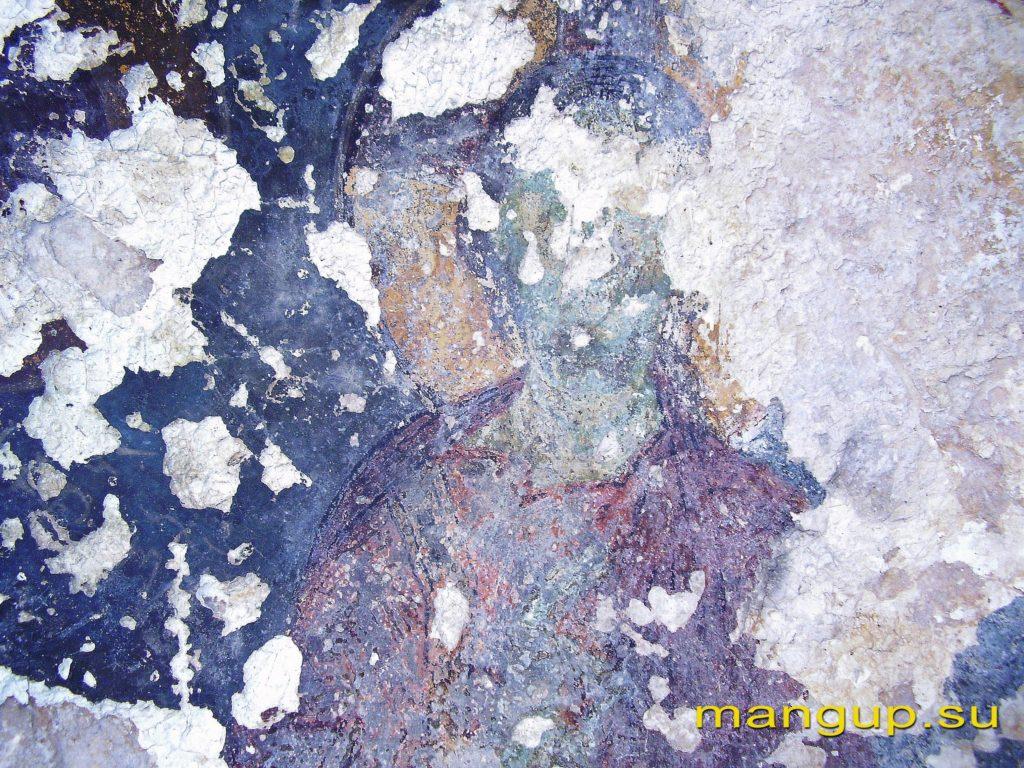 Христос на престоле. Фреска в конхе апсиды храма «Успения».
