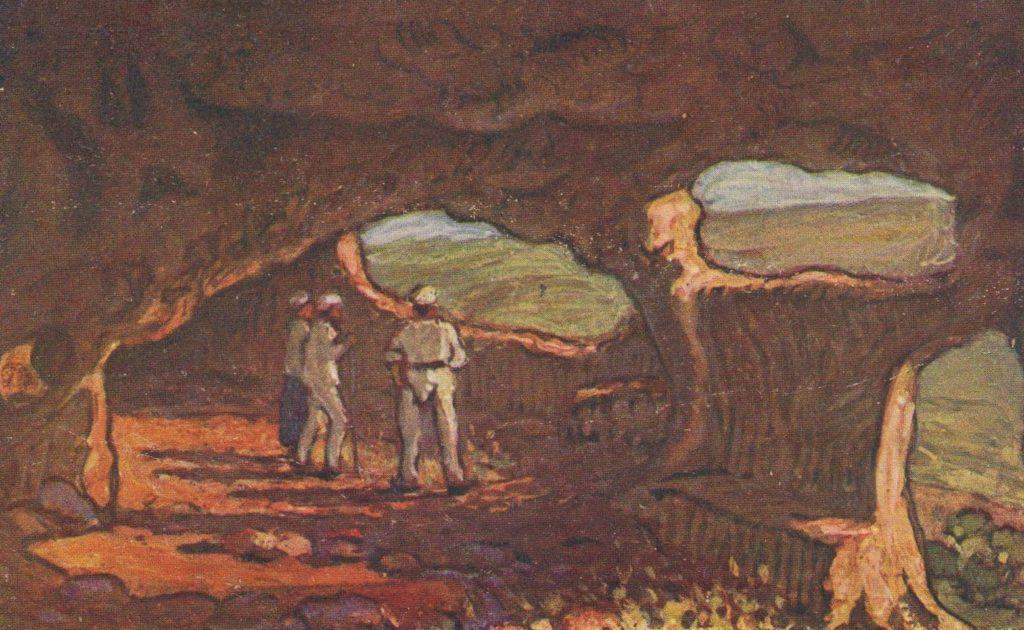Мартынов А.В. Мертвый город. Пещеры («Судилище»). Открытка 20-х гг. ΧΧ в.