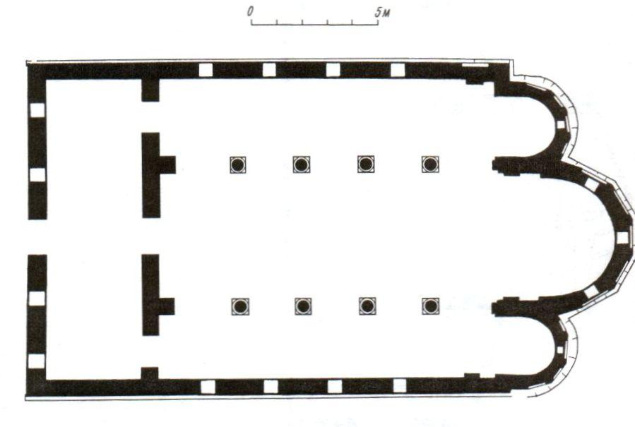 План Эски-Керменской базилики.