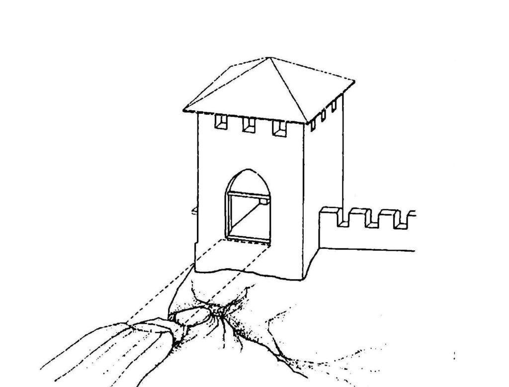 Предполагаемая реконструкция надвратной башни Кыз-Куле по В.Л. Мыцу.