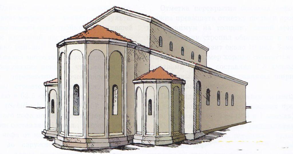 Реконструкция Эски-Керменской базилики.