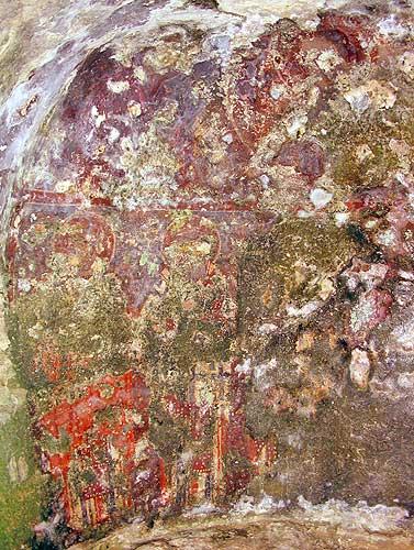 Загайтанская скала. Фрески северо-восточной стены алтарной части храма св. Николая.