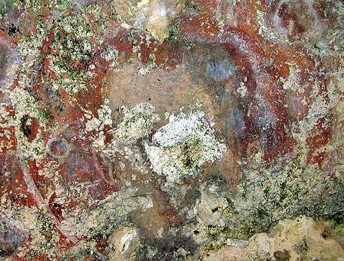 Загайтанская скала. Христос-Эммануил из композиции «Деисис» в конхе апсиды храма св. Николая.