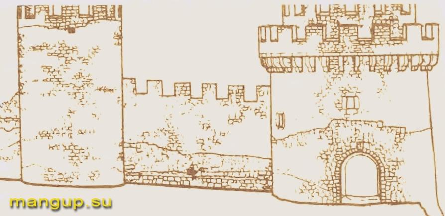 Крепость Каламита. Башни №1 и №2. Реконструкция Е.И. Лопушинской.