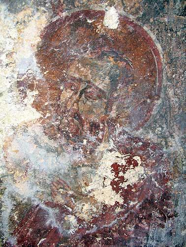 Загайтанская скала. Неизвестный святой из сцены Вознесение Господне в храме св. Николая.