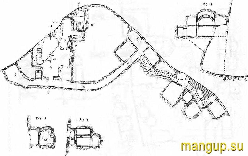 План монастыря св. Софии по А.Л. Бертье-Делагарду.