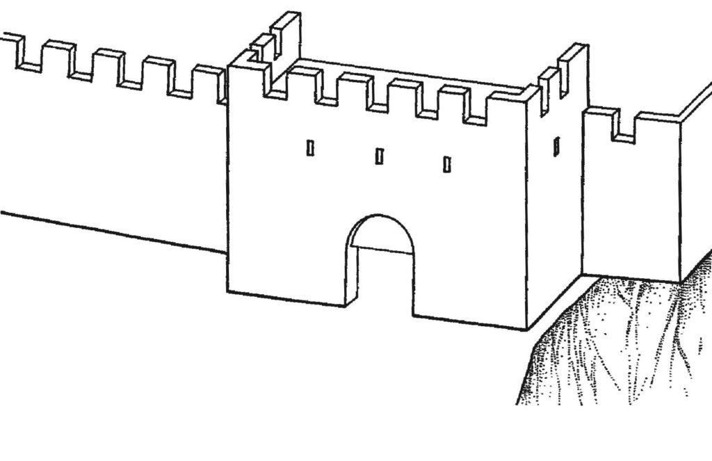 Реконструкция надвратной башни крепости Каламита (1420-е) по В.П. Кирилко.