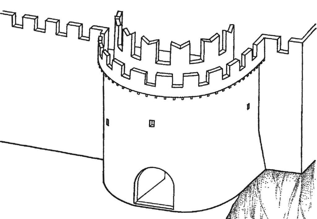 Реконструкция надвратной башни крепости Каламита (1430/40-е) по В.П. Кирилко.