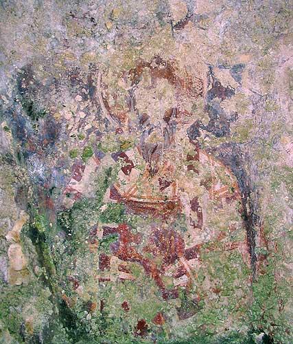 Загайтанская скала. Св. Иоанн Богослов в нише алтарной части храма св. Николая.