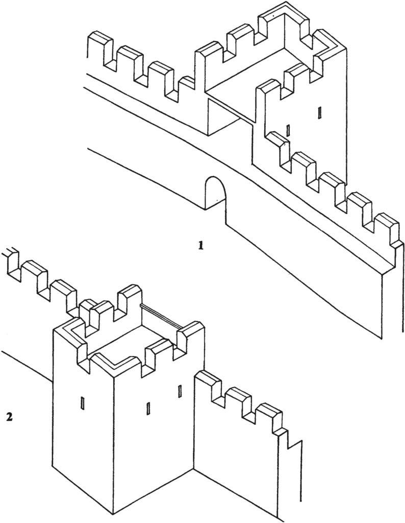 Башня северной линии обороны крепости Фуна.