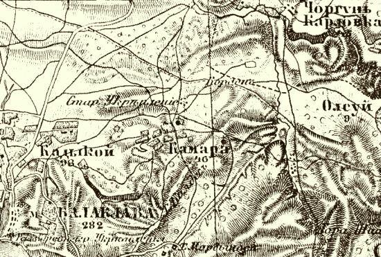 Фрагмент карты Таврической губернии 1865-76 гг., лист XXXV – 12.