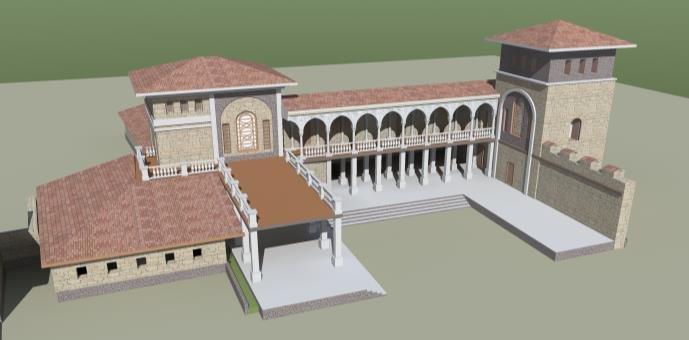 Реконструкция дворца князей Феодоро на плато Мангуп.