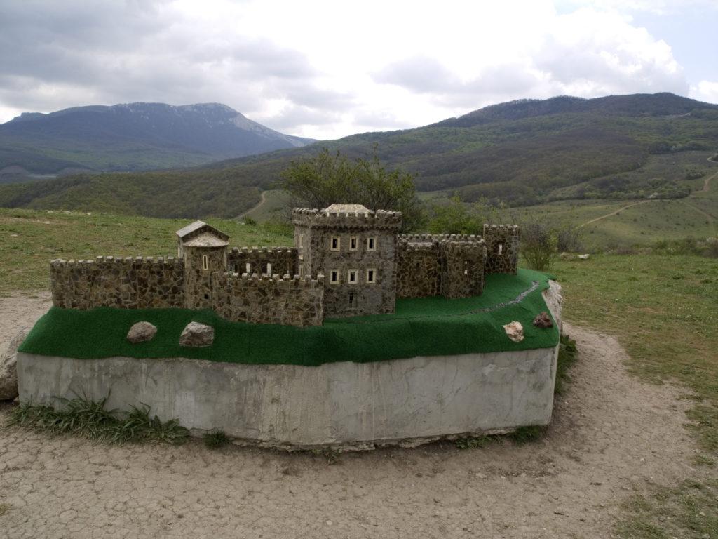 Макет Фунской крепости.