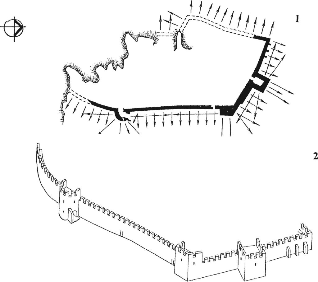 Оборонительные сооружения крепости Фуна после ремонтно-восстановительных работ второй четверти XV в.
