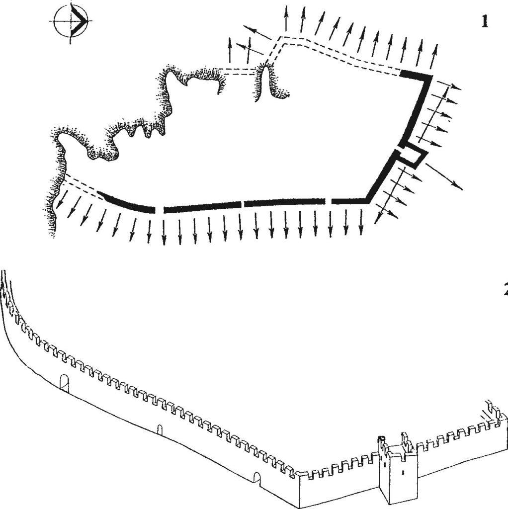 Оборонительные сооружения крепости Фуна первого строительного периода.