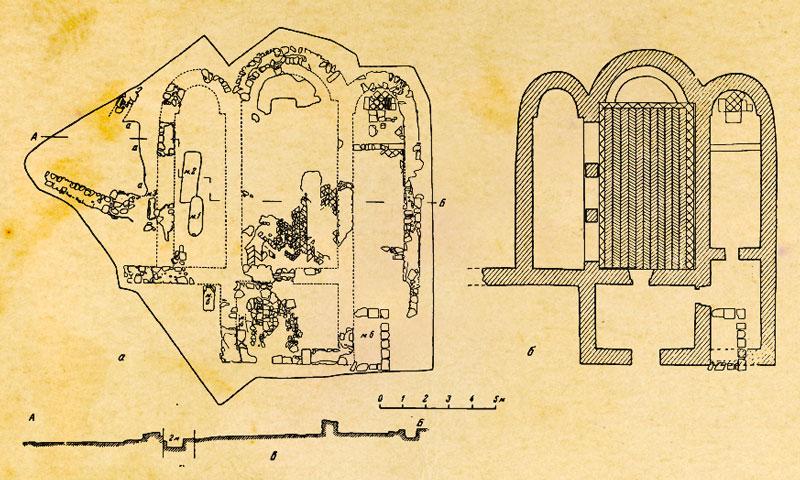 Пампук-Кая. План храма по А.Л. Якобсону.