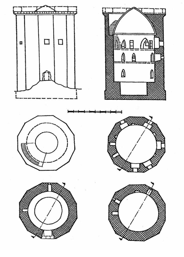 План Чоргуньской башни по А.Л. Бертье-Делагарду.