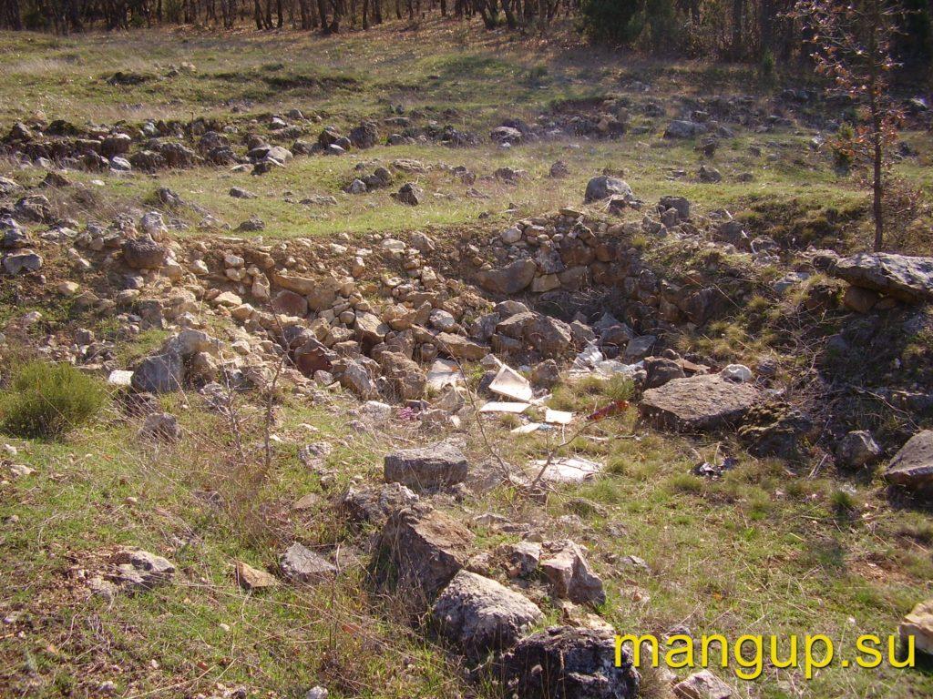 Руины готского поселения.