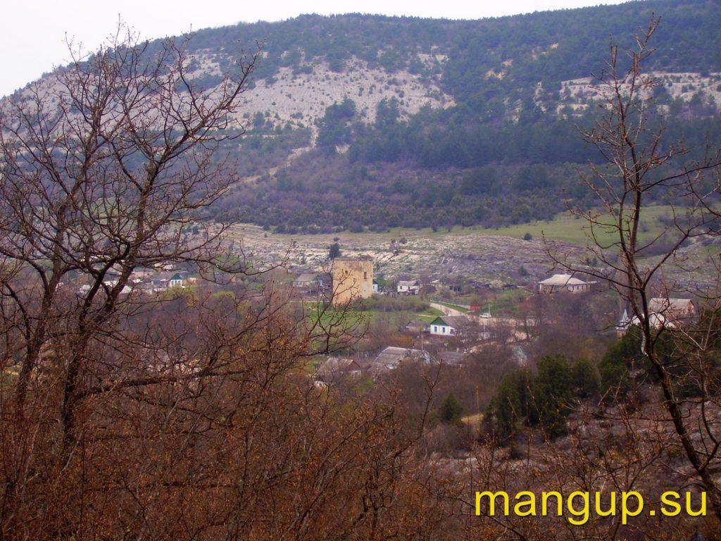 Село Черноречье и Чоруньская башня.