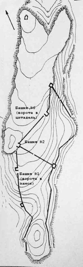 План замка Сандык-Кая по В.Л. Мыцу.