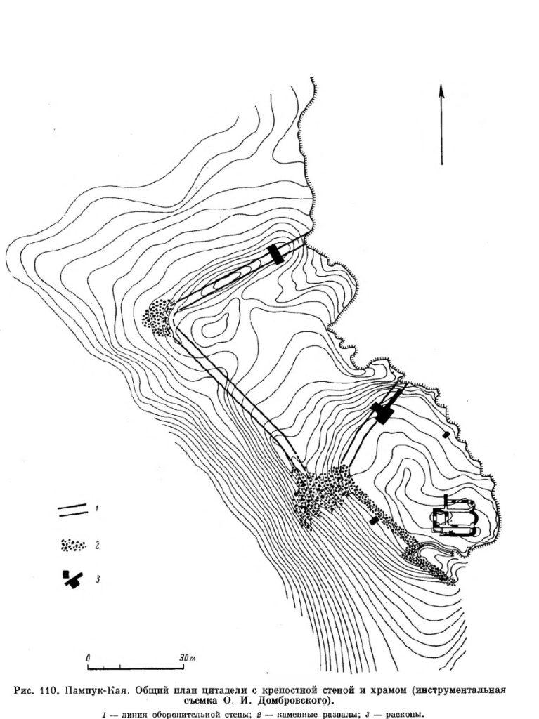 Укрепление Пампук-Кая по О.И. Домбровскому.