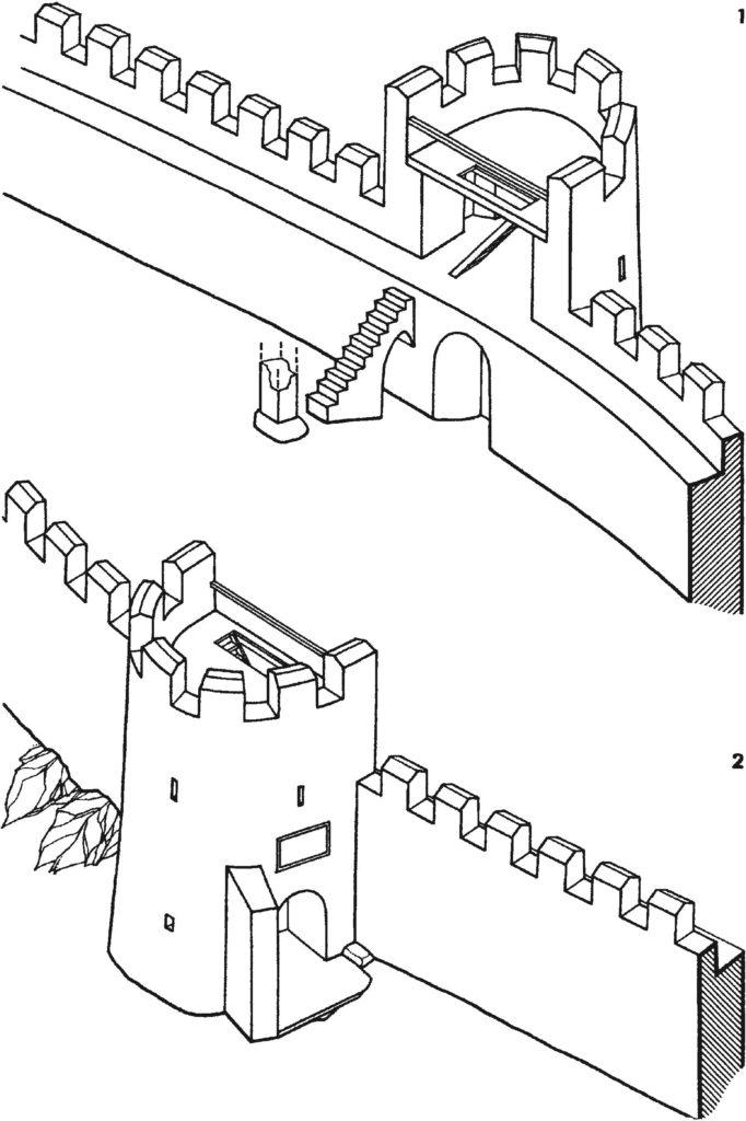 Въездная башня крепости Фуна второй четверти XV в.