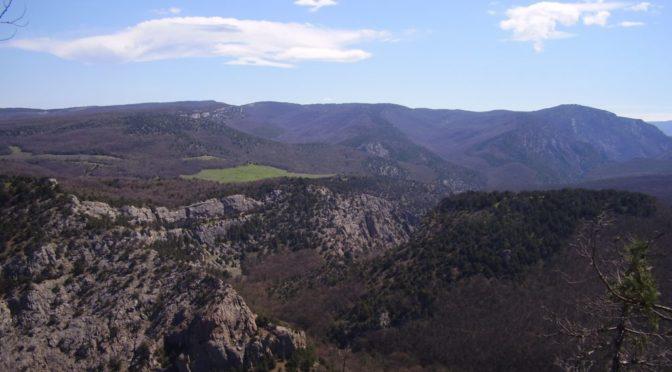 Вид со смотровой площадки Чернореченского исара.