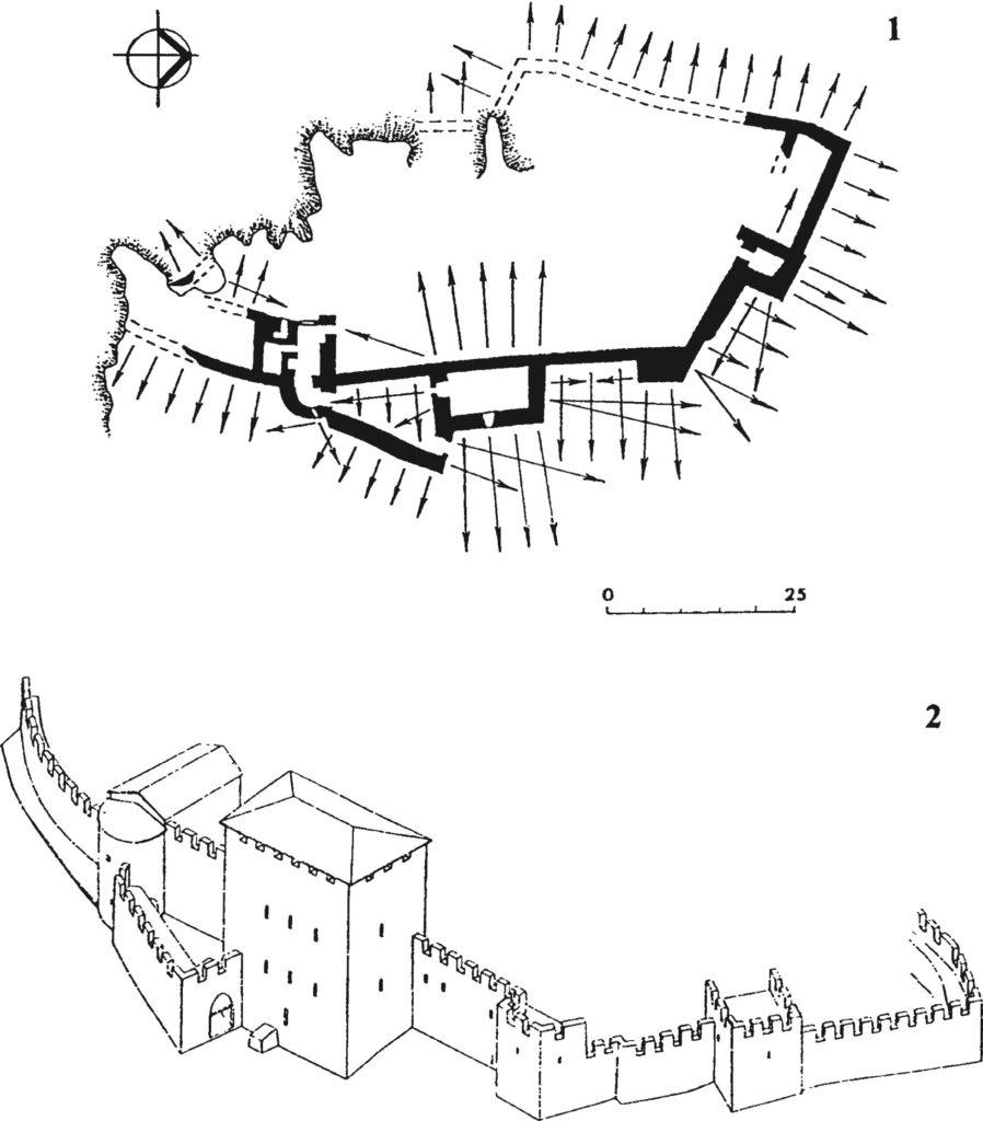 Замок у селения Фуна после перестройки в 1459 г.