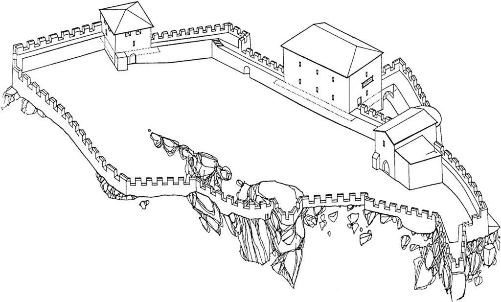 Замок у селения Фуна в 1459–1475 гг.