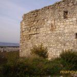Западный фланг стены мангупской цитадели.