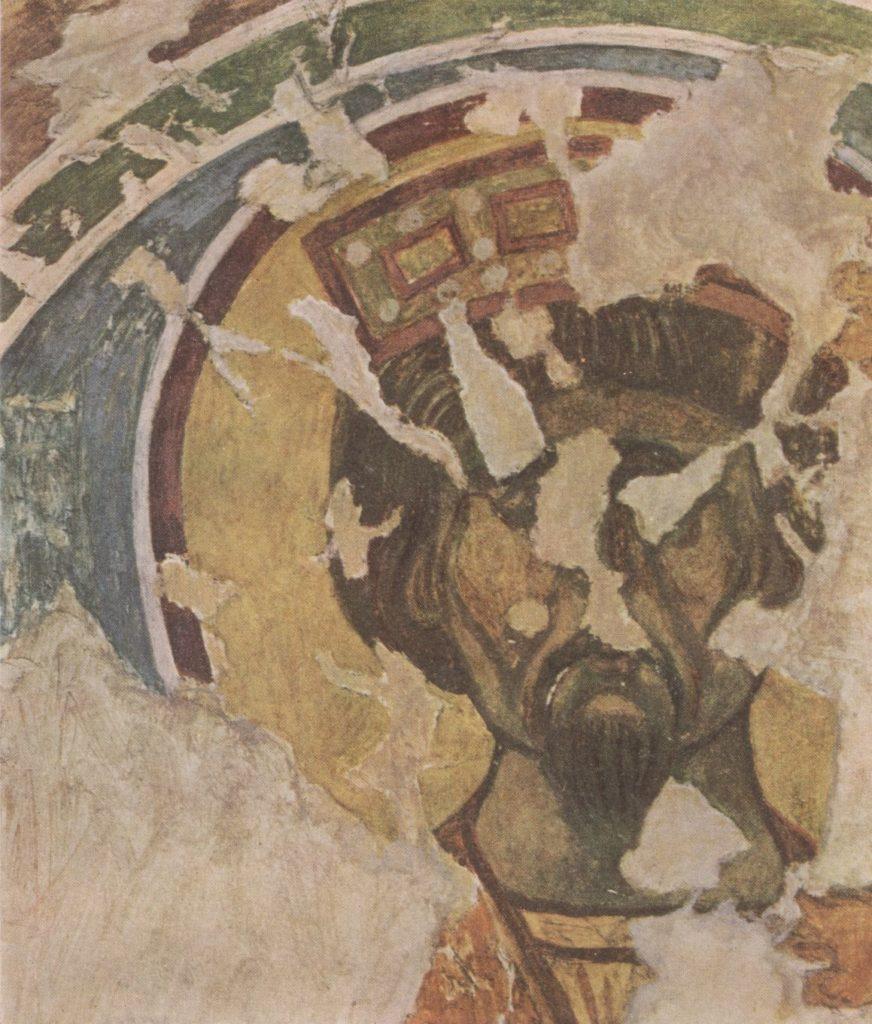 Царь-пророк, фрагмент росписи Южного монастыря Мангупа.