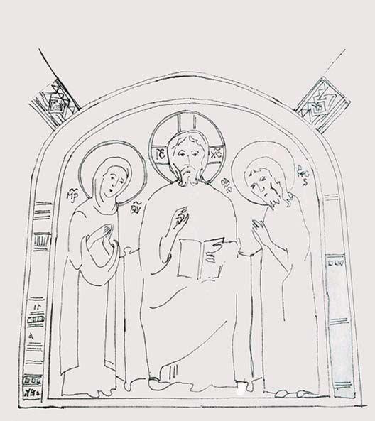 Реконструкция фресковой росписи пещерного храма в Кильсе-дере