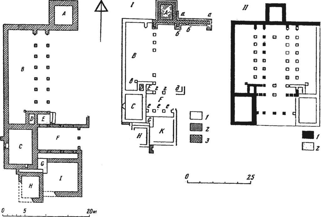 План-схема дворцового комплекса Мангупа.