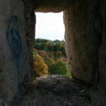 Вид из амбразуры оборонительной стены турецкого времени на мысу Элли-бурун.