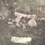 Мангуп. Караимское кладбище в Табана-дере, фото 1912 года.
