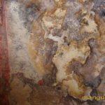 Пещерная церковь в Кильсе-дере в окрестностях Мангупа, остатки фресковой росписи, Богородица.