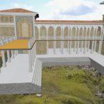 Мангуп. Реконструкция дворца князей Феодоро. Вид с востока.
