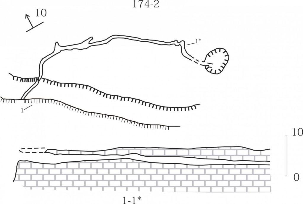 План пещеры Мангупская - 2 (МК-2)