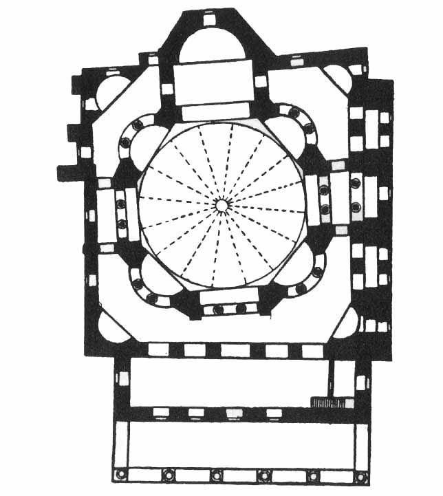План церкви Святых Сергия и Вакха. 526–537 гг. Константинополь.