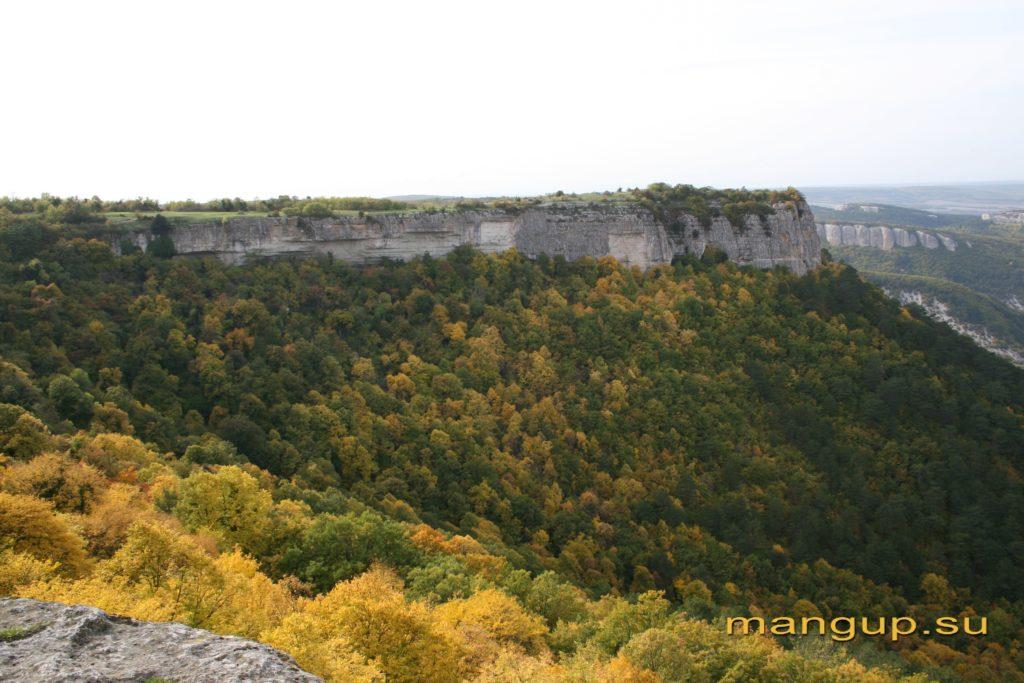 Мыс Тешкли-бурун. Вид с террасы пещеры Барабан-коба на Элли-бурун.