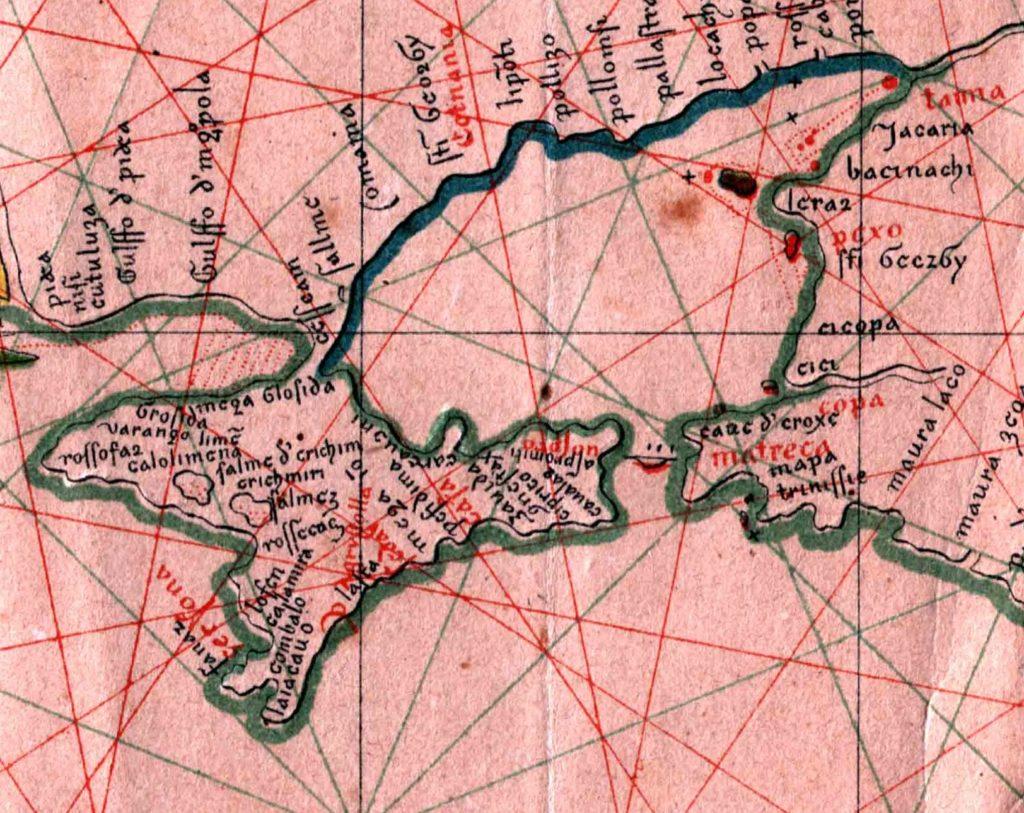 Карта Черного моря П. Весконте (фрагмент)