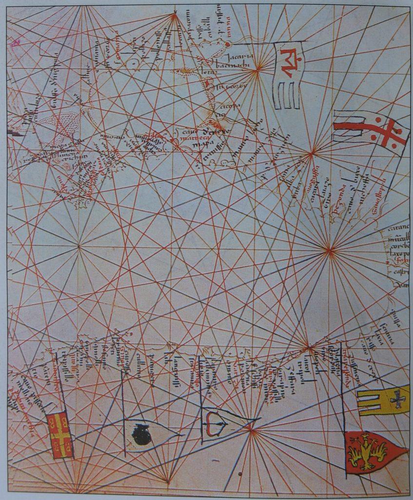 Фрагмент карты Черного моря из атласа к книге М. Санудо.