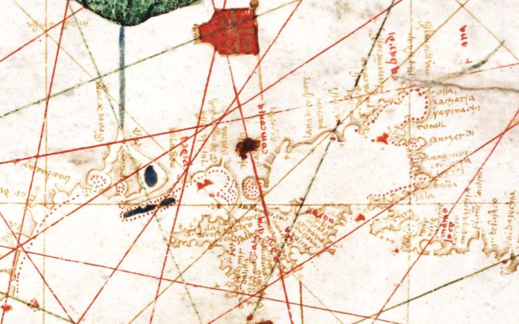 Фрагмент анонимной карты Средиземного, Черного и Азовского морей из Государственного архива Флоренции