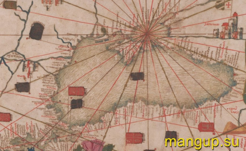 Черноморский регион на анонимной каталанской планисфере середины XV века.