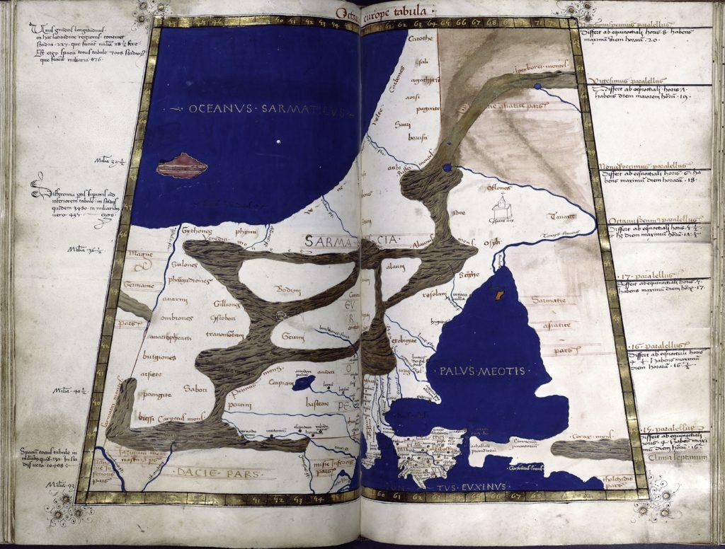 Карта Европейской Сарматии и Таврического Херсонеса Н. Германи. Место хранения: Нью-Йоркская публичная библиотека.