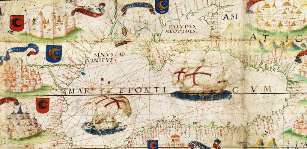 Фрагмент карты Лопу Хомема.