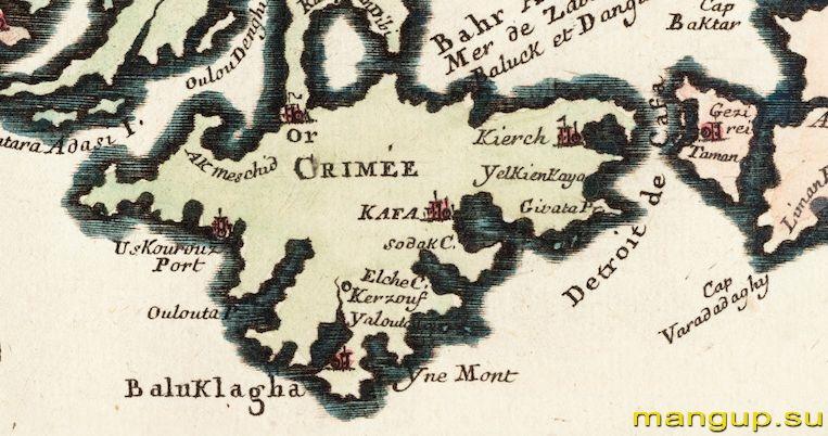 Николя де Фер. Черное море (1705).