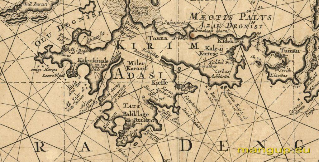 Николас Витсен. Понт Эвксинский или Новая точная карта Черного моря (Амстердам, 1745).
